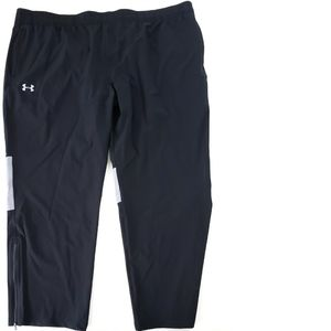 NWT Under Armour Woven Track Pant Black Jogger 4XL